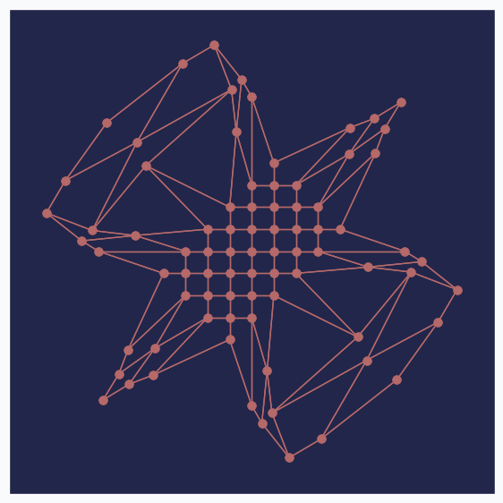 bird pattern generated by SOFM
